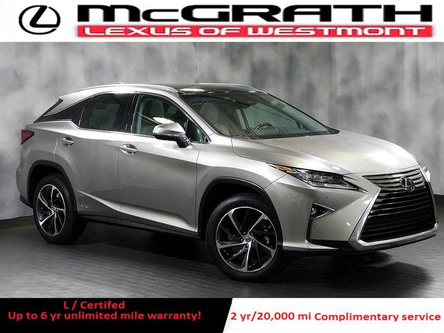 Certified Pre Owned 2017 Lexus Rx 450h Awd Hybrid