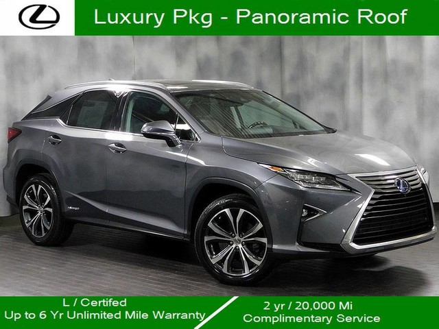 Certified Pre Owned 2016 Lexus Rx 450h Awd Hybrid